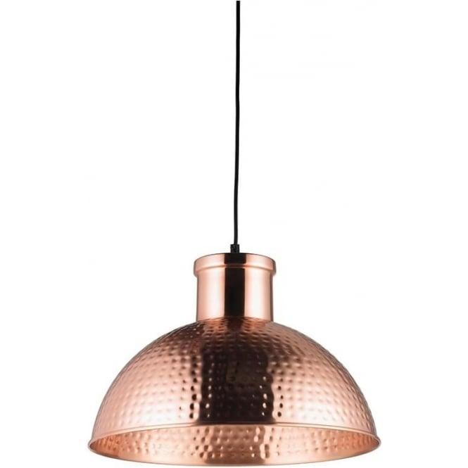 Endon EH-PARINA Parina 1 Light Ceiling Pendant Copper