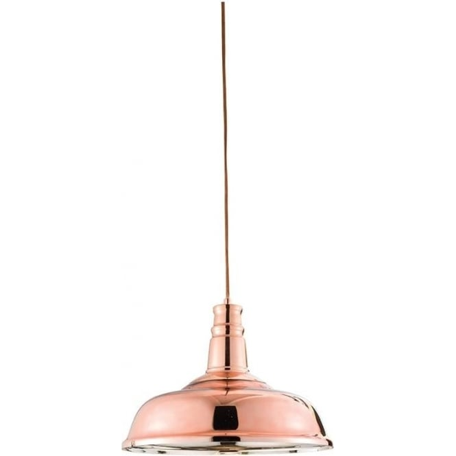 Endon 61705 Jackman 1 Light Ceiling Pendant Copper