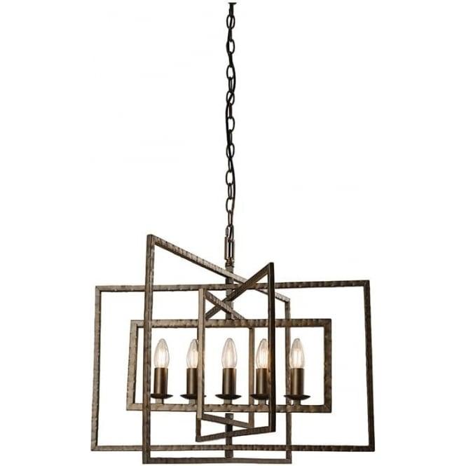 Endon 61017 Tibbet 5 Light Ceiling Pendant Bronze