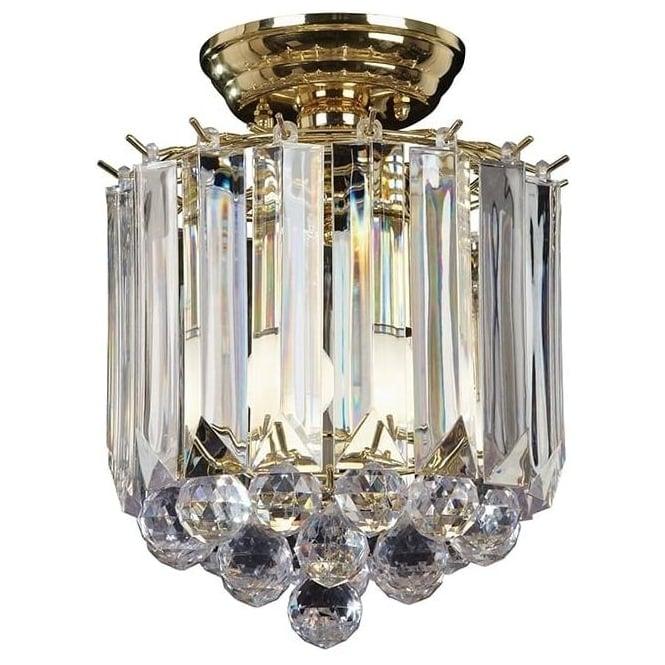 Endon FARGO-BP 2 Light Modern Flush Ceiling Light Brass Plated Finish