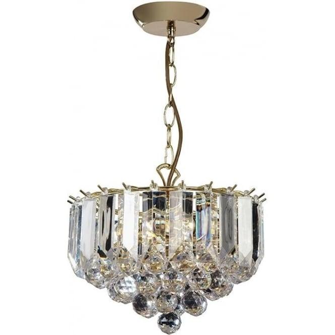 Endon FARGO-12BP 3 Light Modern Ceiling Light Brass Plated Finish (Small)