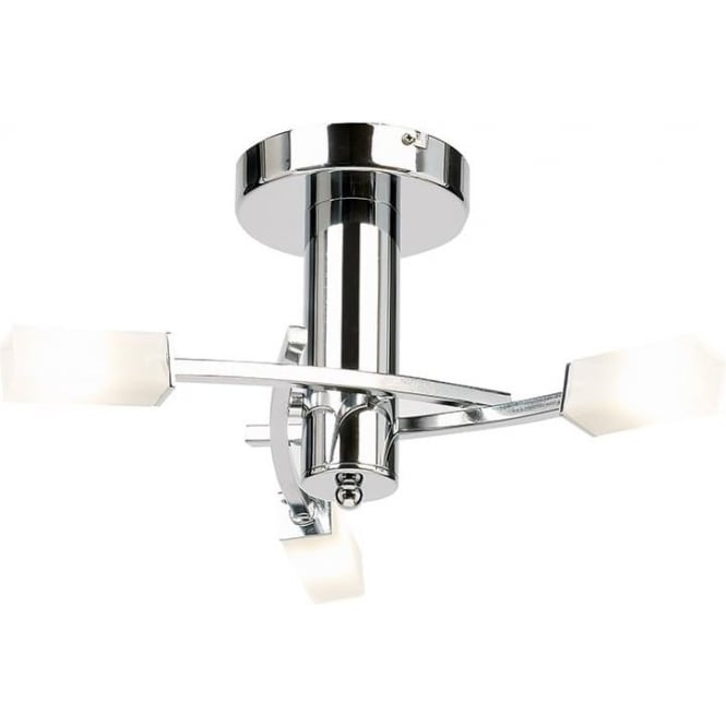 Endon 146-3CH Havana 3 Light Ceiling Light Polished Chrome