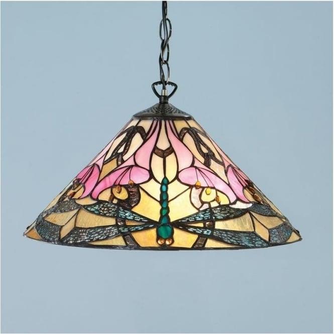Interiors 1900 63923 Ashton 1 Light Tiffany Ceiling Pendant