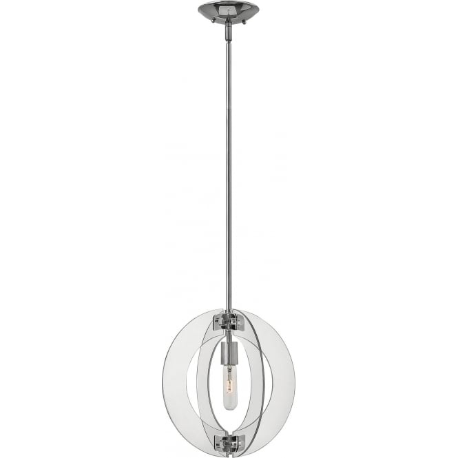 Elstead Hinkley HK/SOLSTICE/MP Solstice 1 Light Ceiling Pendant Polished Chrome