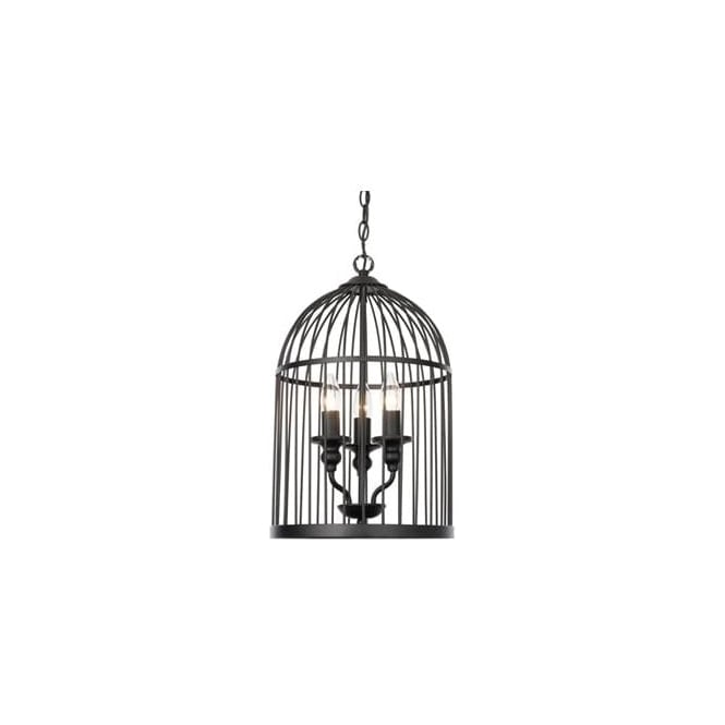 Endon 61021 Matthau 3 Light Ceiling Pendant Matt Black