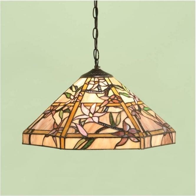 Interiors 1900 64020 Clematis 1 Light Tiffany Medium Ceiling Pendant