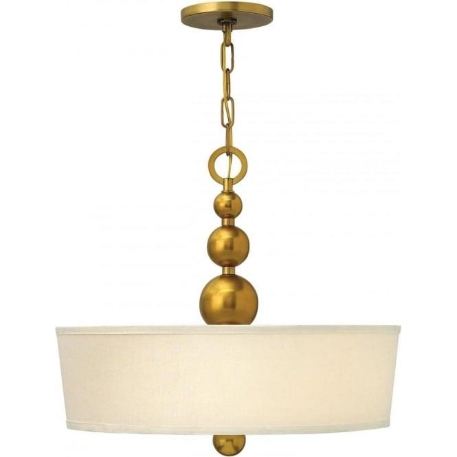 Elstead Hinkley HK/ZELDA/P/B-VS Zelda 3 Light Ceiling Pendant Vintage Brass