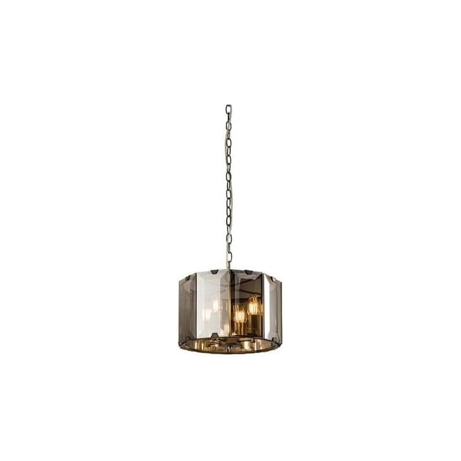 Endon 61281 Clooney 4 Light Ceiling Pendant Smoked Glass