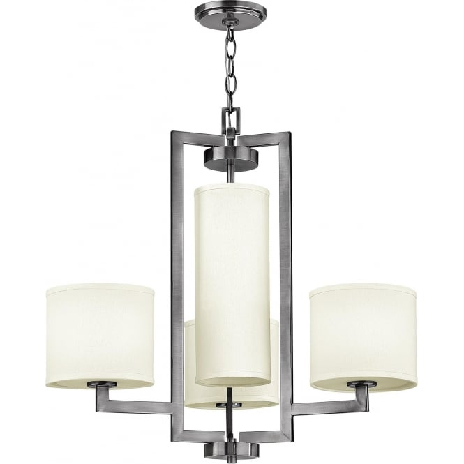 Elstead Hinkley HK/HAMPTON4 Hampton 4 Light Ceiling Light Antique Nickel