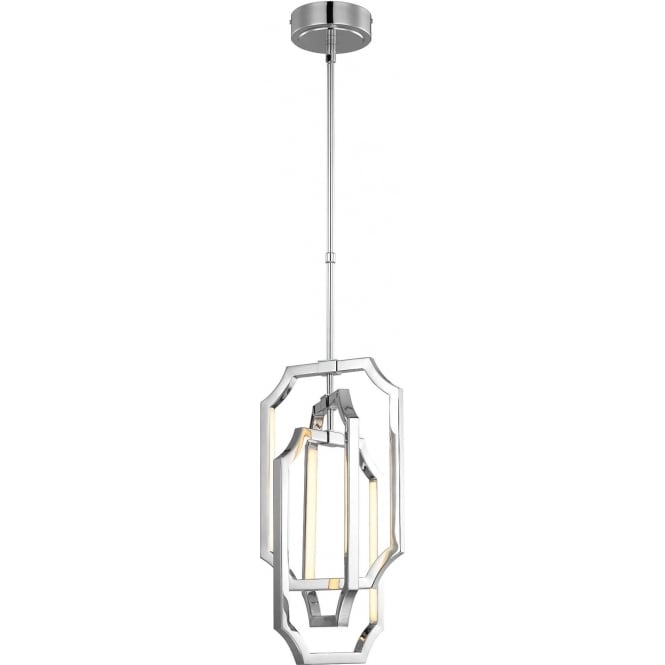 Elstead Feiss FE/AUDRIE/P/M Audrie LED Ceiling Pendant Polished Nickel