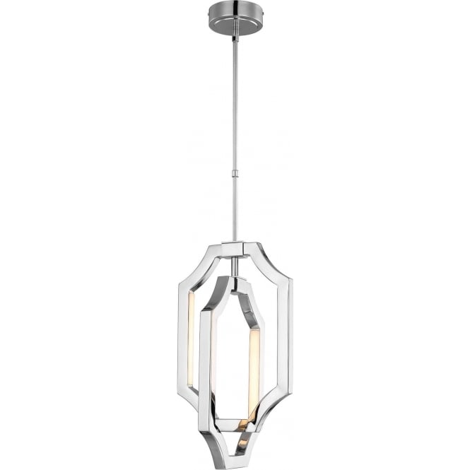 Elstead Feiss FE/AUDRIE/P/S Audrie LED Ceiling Pendant Polished Nickel