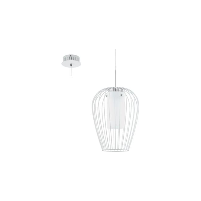 Eglo 94337 Vencino 1 Light Ceiling Pendant White Chrome