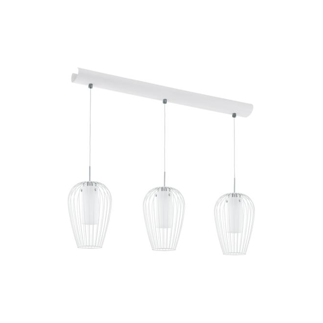 Eglo 94339 Vencino 3 Light Ceiling Pendant White Chrome
