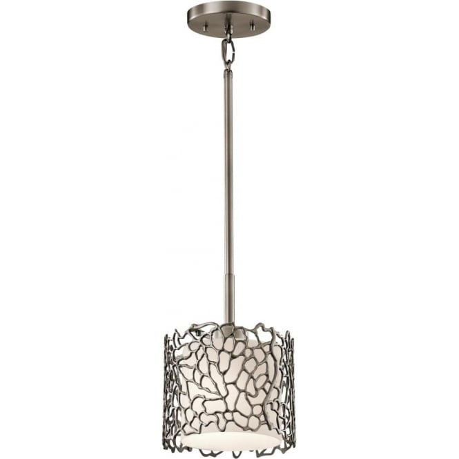 Elstead Kichler KL/SILCORAL/MP Silver Coral 1 Light Ceiling Pendant Pewter