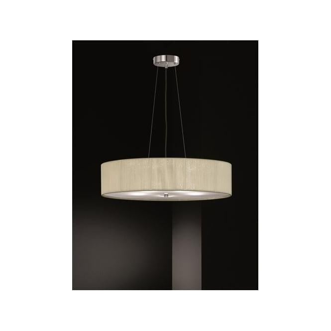 Franklite FL2342/5 Desire 5 Light Ceiling Pendant Cream