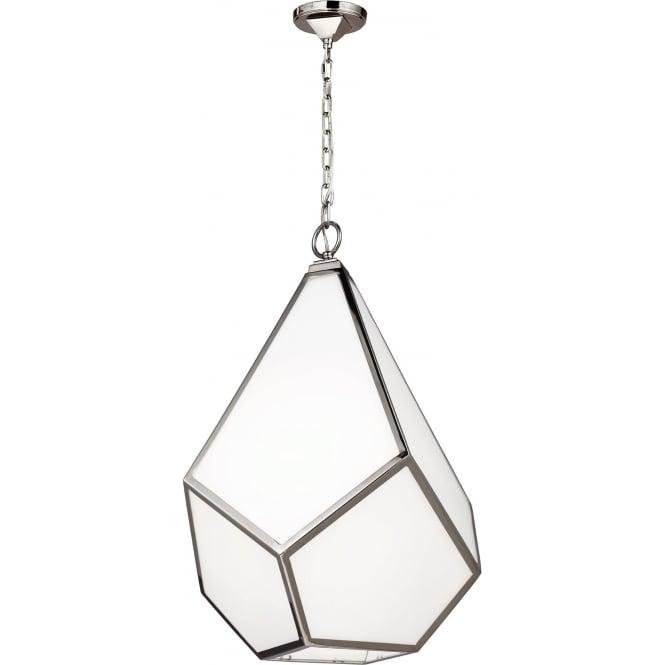Elstead Feiss FE/DIAMOND/P/L Diamond 4 Light Ceiling Pendant Polished Nickel