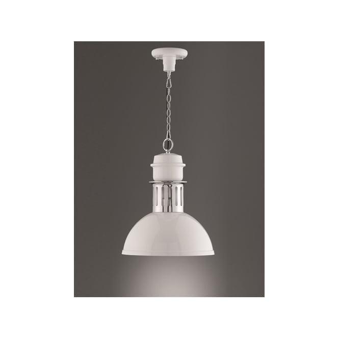 Franklite PCH122 Sassy 1 Light Pendant White