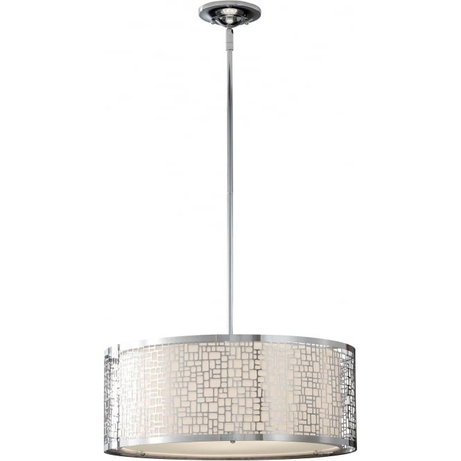 Elstead Fiess FE/JOPLIN/3P Joplin 3 Light Ceiling Pendant Polished Chrome
