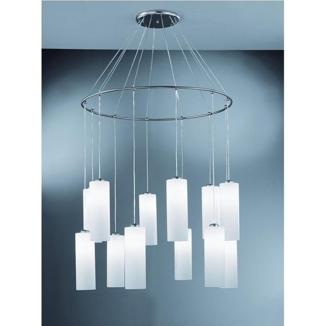 Franklite CO93212/887 Modern 12 Light Ceiling Pendant Chrome