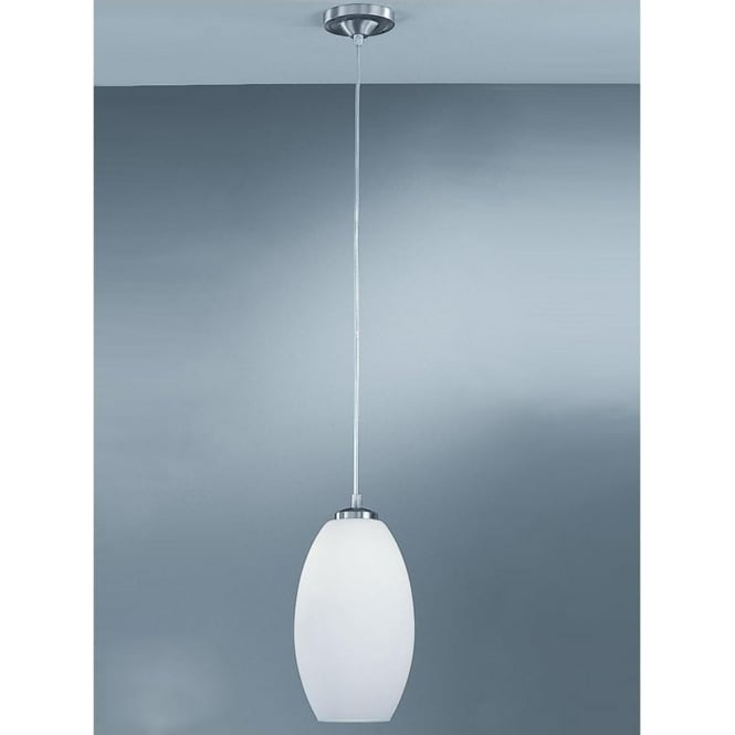 Franklite PCH63/818 Modern 1 Light Ceiling Pendant Satin Nickel
