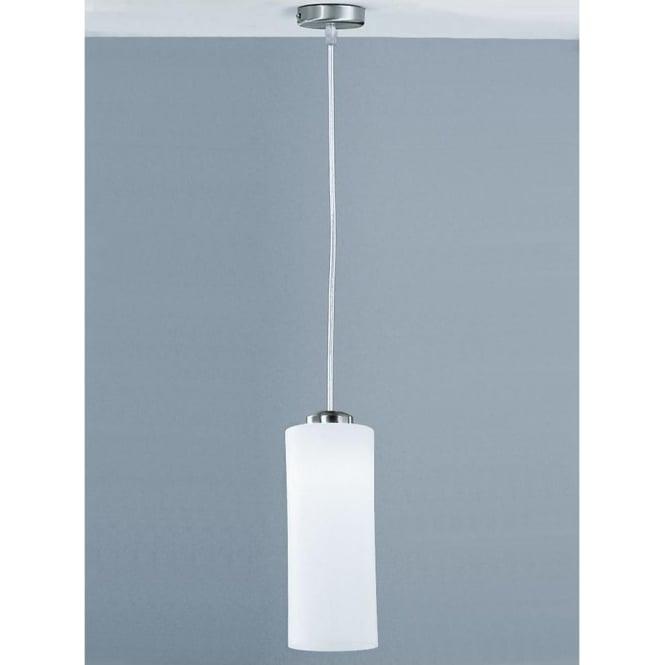 Franklite PCH63/887 Modern 1 Light Ceiling Pendant Satin Nickel