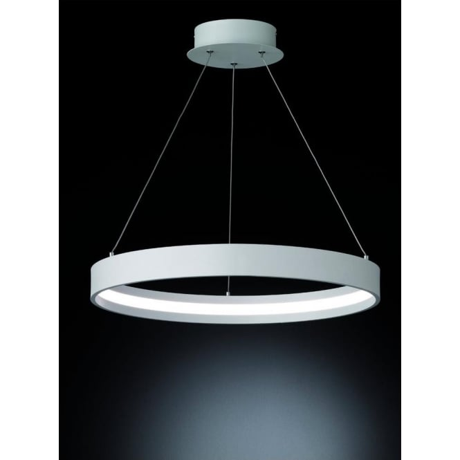 Franklite PCH118 Hollo LED Ceiling Pendant Ivory (Small)