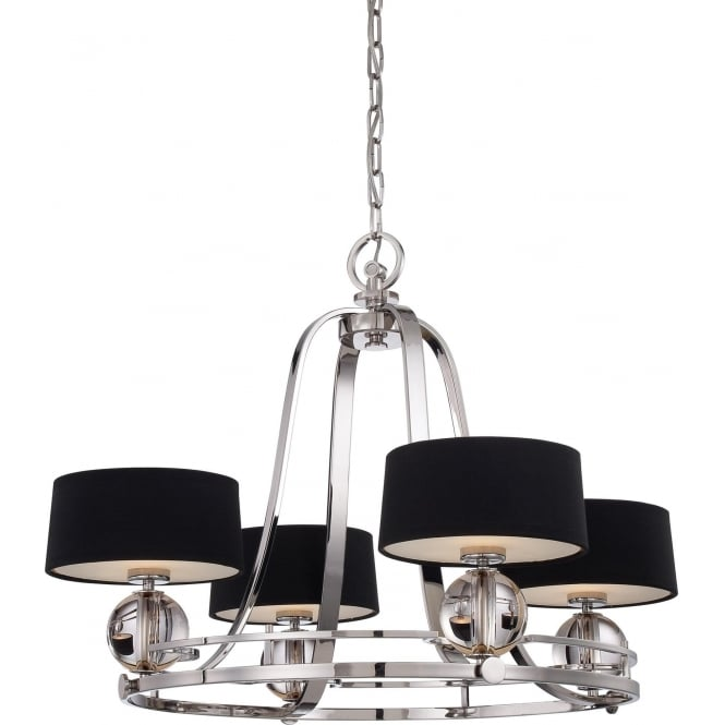 Elstead Quoizel QZ/GOTHAM4 Gotham 4 Light Ceiling Light Imperial Silver