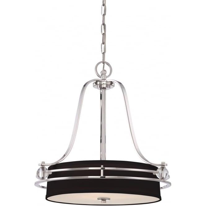 Elstead Quoizel QZ/GOTHAM/P Gotham 4 Light Ceiling Pendant Imperial Silver