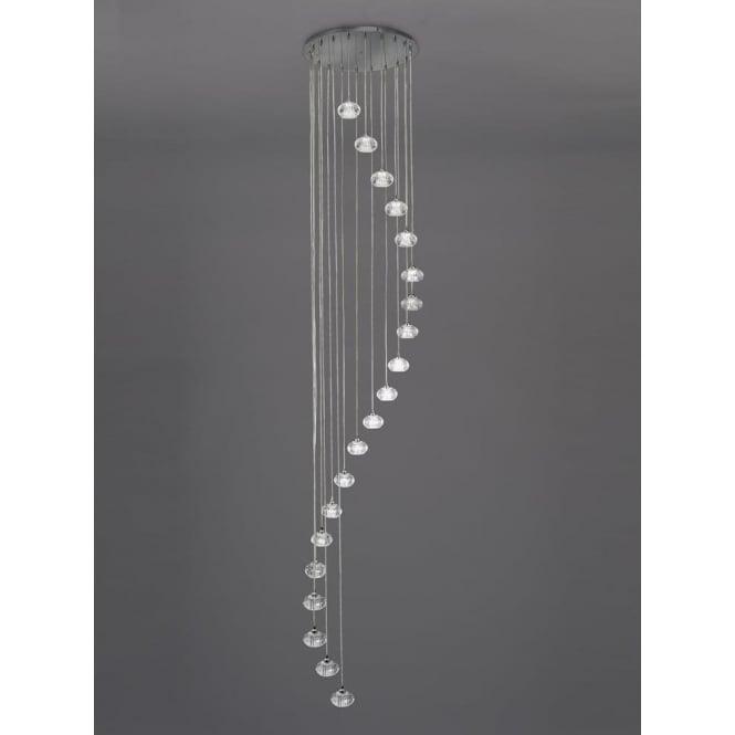 Franklite FL2343/20 Tizzy 20 Light Ceiling Pendant Chrome