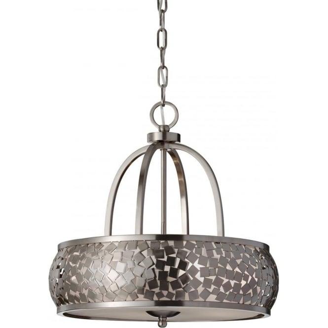 Elstead Feiss FE/ZARA4 Zara 4 Light Ceiling Pendant Brushed Steel