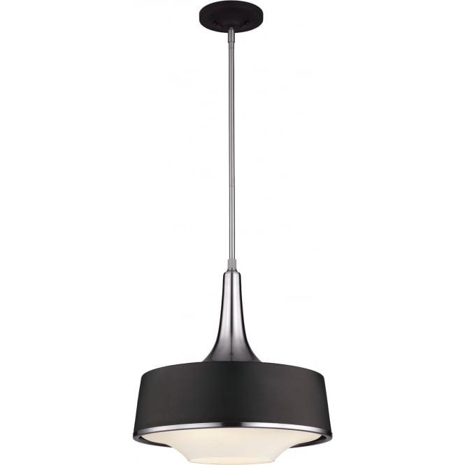 Elstead Feiss FE/HOLLOWAY/4P/B Holloway 4 Light Ceiling Pendant Black
