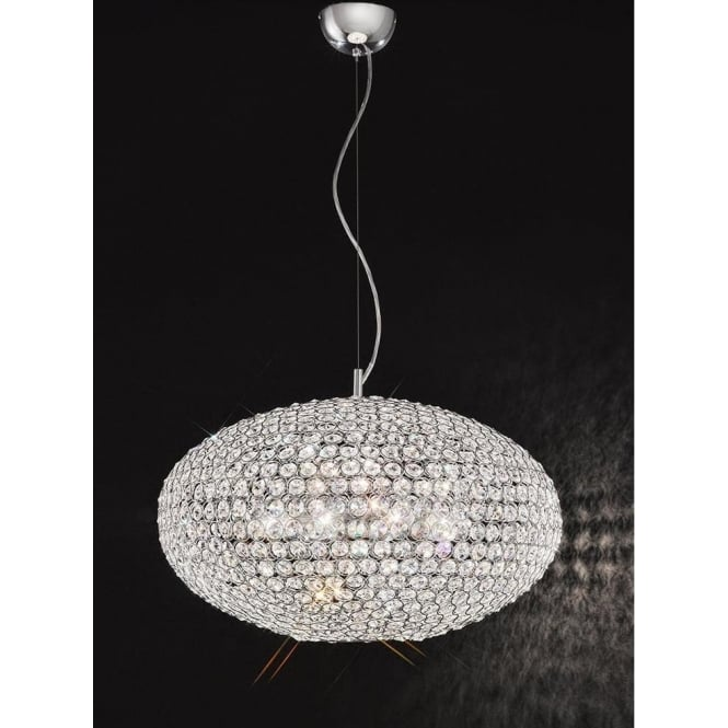 Franklite FL2273/8 Marquesa 8 Light Crystal Ceiling Pendant Polished Chrome