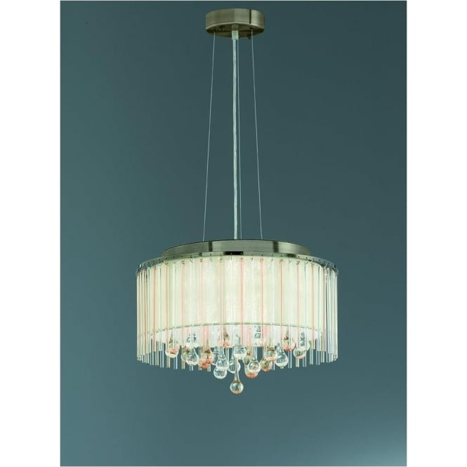 Franklite FL2346/6 Ambience 6 Light Ceiling Pendant Bronze