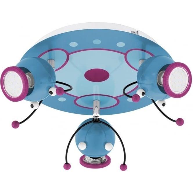 Eglo 95943 Laia 1 Multi Coloured 3 Light LED Ceiling Spotlight