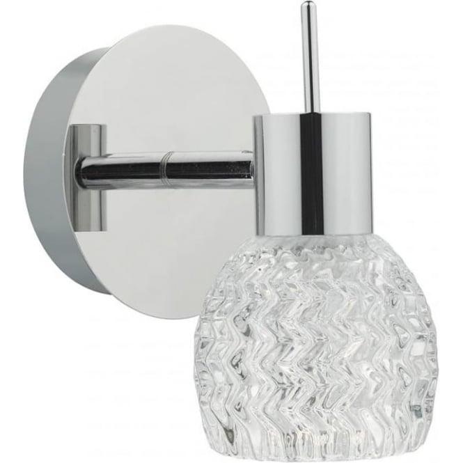 Dar ANI0750 Anika 1 Light Switched LED Wall Spotlight Polished Chrome