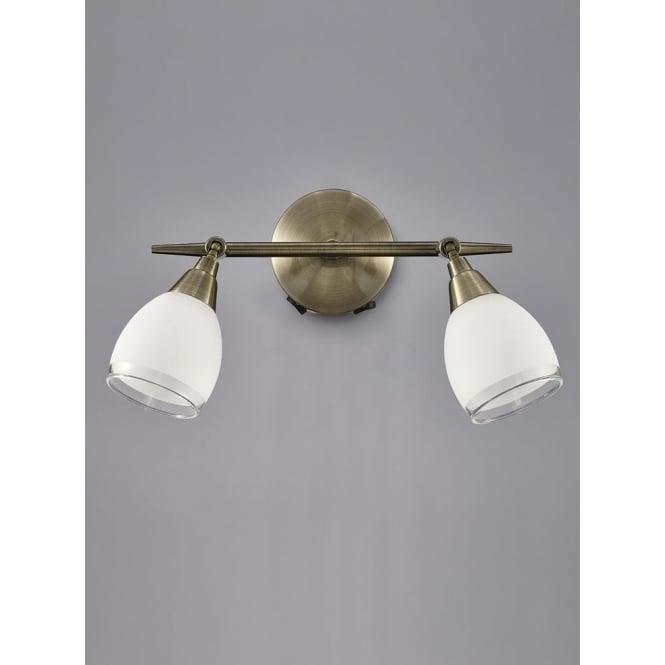 Franklite SPOT8982 Lutina 2 Light Switched Spotlight Bronze
