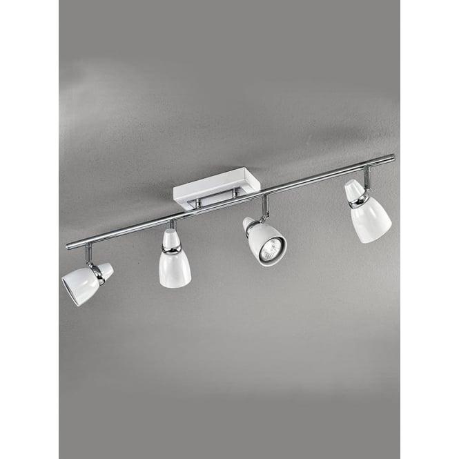 Franklite SPOT8934 Pixon 4 Light Ceiling Spotlight White/Chrome