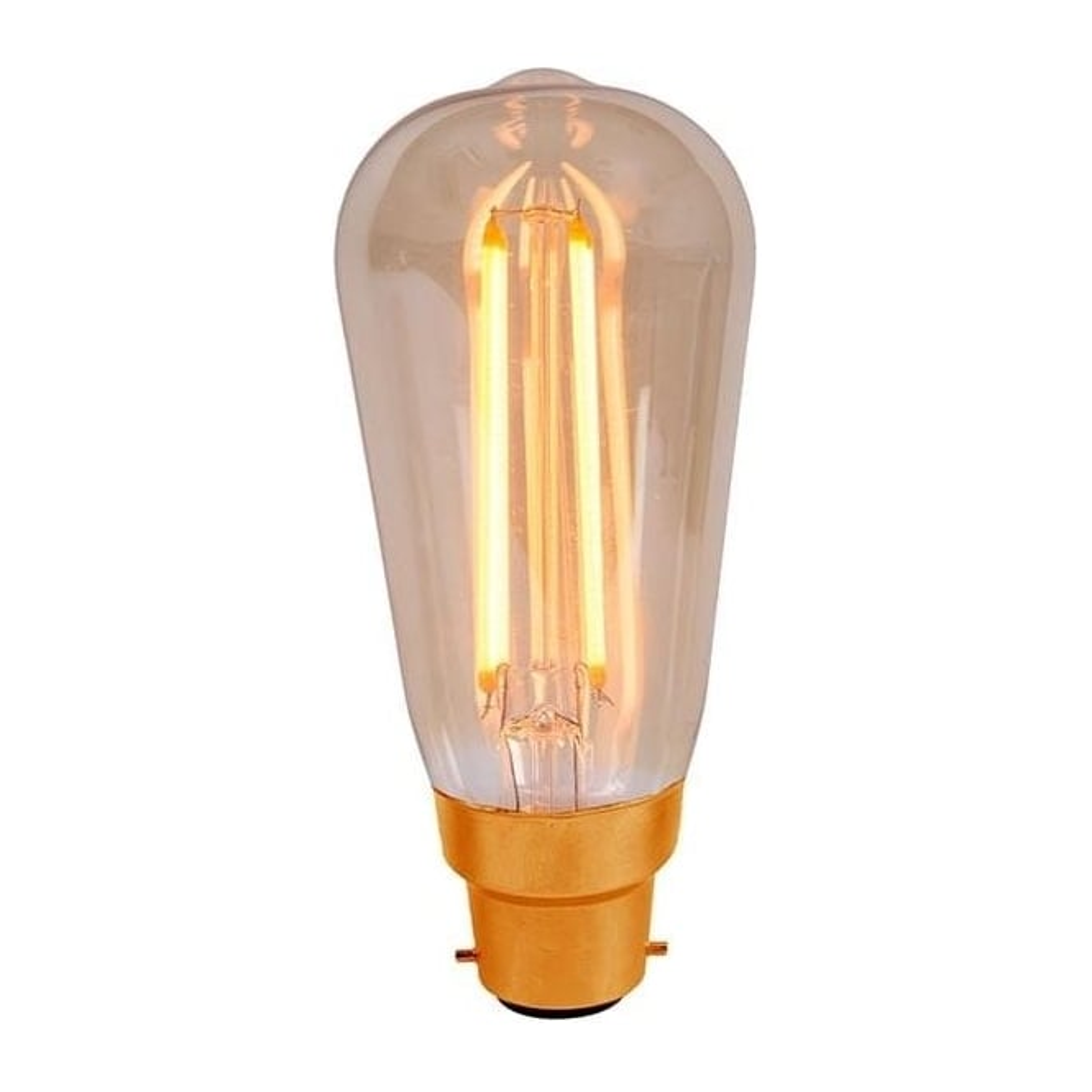 Bell ES/E27 BC/B22 LED 4 Watt Vintage Squirrel Cage Amber Bulb