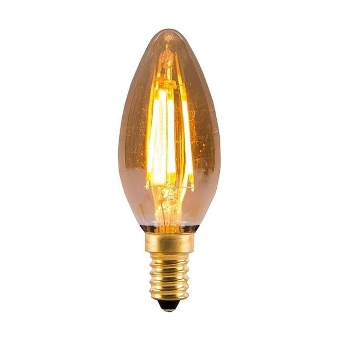 Bell ES/E27 BC/B22 SES/E14 SBC/B15 LED 4 Watt Vintage Candle Amber Bulb