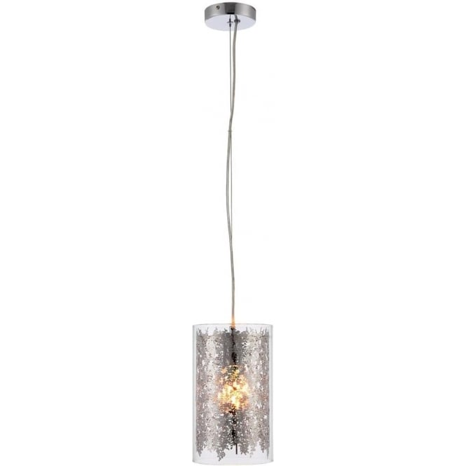Endon 70181 Lacy 1 Light Ceiling Pendant Chrome