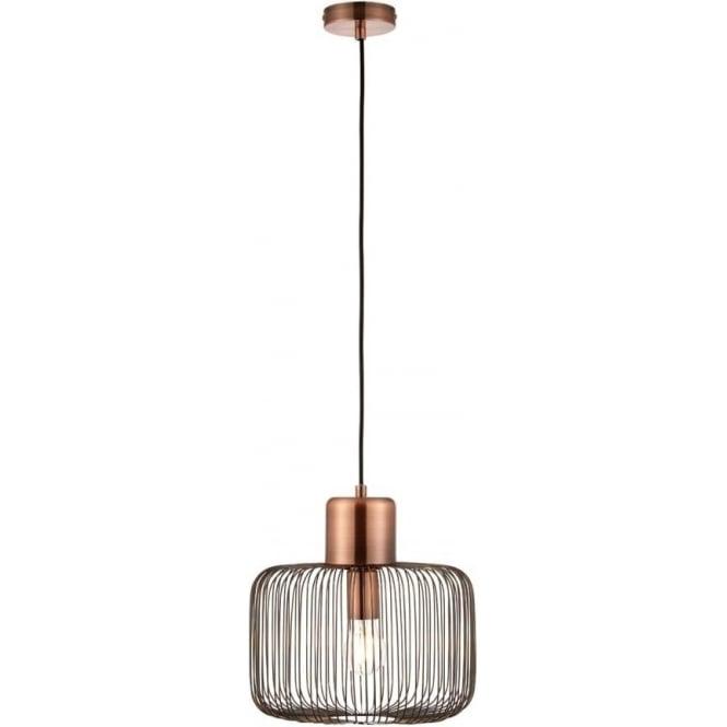 Endon 68986 Nicola 1 Light Ceiling Pendant Antique Copper