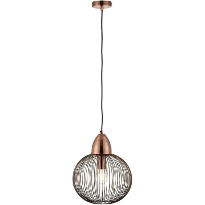 Endon 68987 Nicola 1 Light Ceiling Pendant Antique Copper