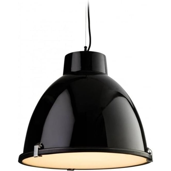 FirstLight 3621BK Manhattan 1 Light Ceiling Pendant Black