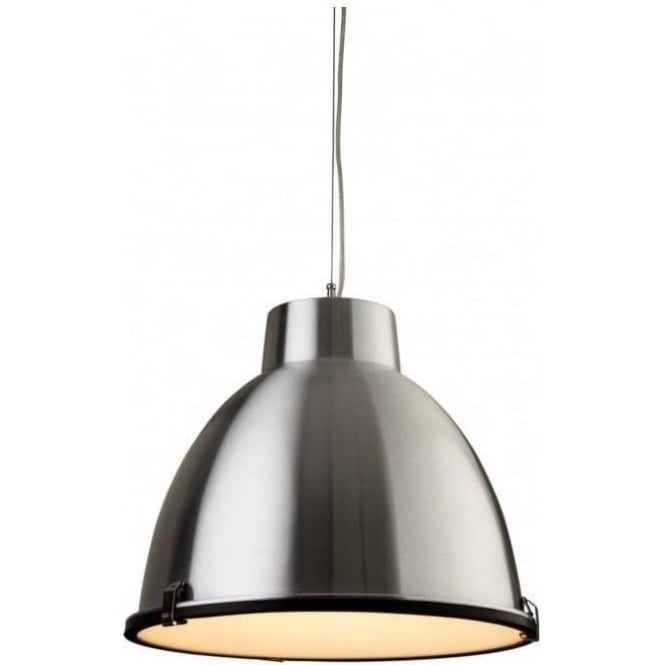 FirstLight 3621AL Manhattan 1 Light Ceiling Pendant Aluminium