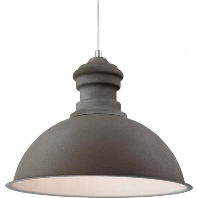 FirstLight 2307CN Aztec 1 Light Ceiling Pendant Rough Sand Concrete