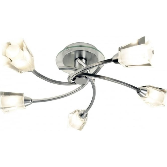 Dar AUS0550 Austin 5 Light Semi-flush Ceiling Light Polished Chrome