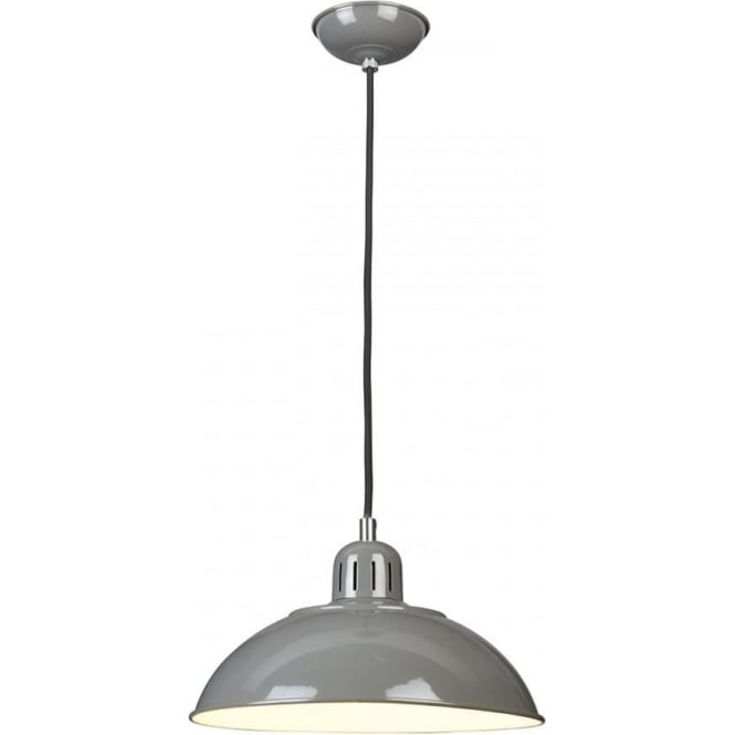 Elstead FRANKLIN/P/GY Franklin 1 Light Ceiling Pendant Grey