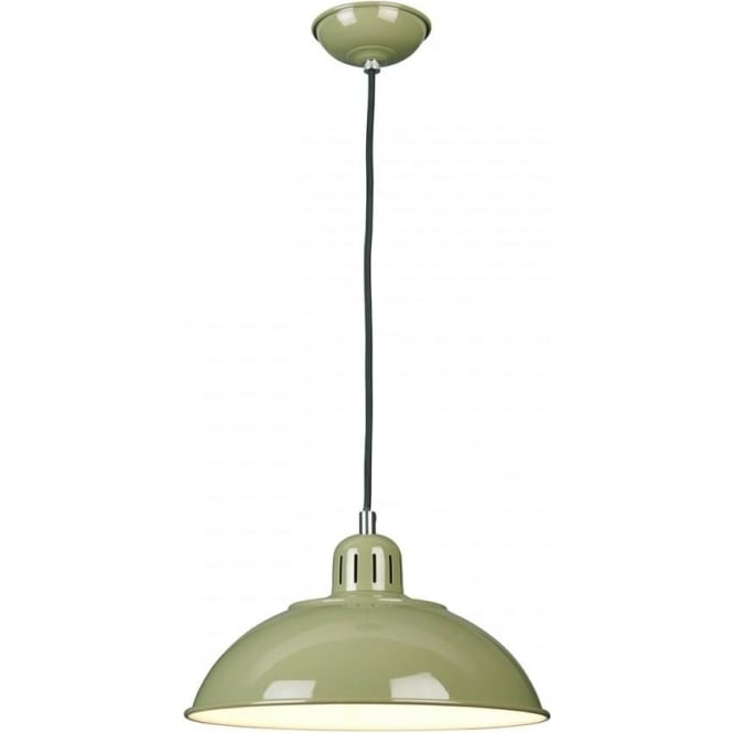Elstead FRANKLIN/P/GRN Franklin 1 Light Ceiling Pendant Green