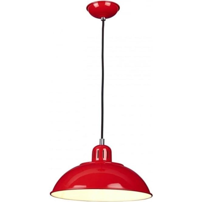 Elstead FRANKLIN/P/RED Franklin 1 Light Ceiling Pendant Red