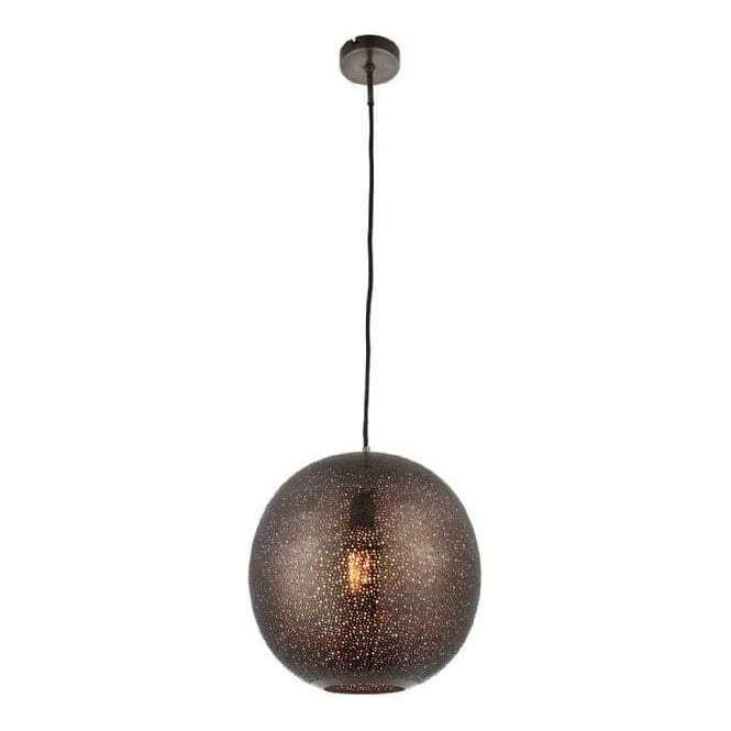 Endon 70390 Abu 1 Light Ceiling Pendant Antique Pewter